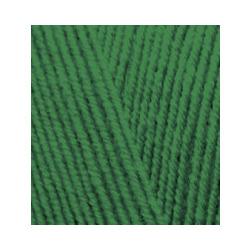 Пряжа Alize Lana Gold Fine (49% шерсть, 51% акрил) 5х100г/390м цв.118 т.зеленый
