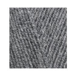 Пряжа Alize Lana Gold Fine (49% шерсть, 51% акрил) 5х100г/390м цв.182 средне-серый меланж