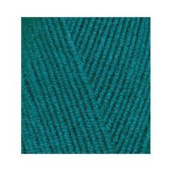 Пряжа Alize Lana Gold Fine (49% шерсть, 51% акрил) 5х100г/390м цв.640 павлиновая зелень