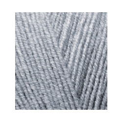 Пряжа Alize Lana Gold Fine (49% шерсть, 51% акрил) 5х100г/390м цв.021 серый меланж