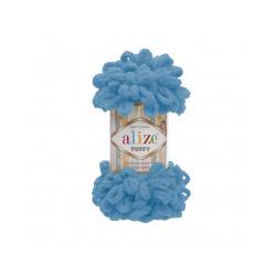 Пряжа Alize Puffy (100% микрополиэстер) 5х100г/9.5м цв.016 голубой Сочи