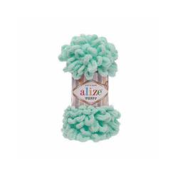 Пряжа Alize Puffy (100% микрополиэстер) 5х100г/9.5м цв.019 св.бирюзовый
