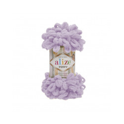 Пряжа Alize Puffy (100% микрополиэстер) 5х100г/9.5м цв.027 светлая сирень