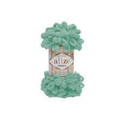 Пряжа Alize Puffy (100% микрополиэстер) 5х100г/9.5м цв.490 св.бирюзовый