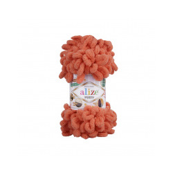 Пряжа Alize Puffy (100% микрополиэстер) 5х100г/9.5м цв.619 коралловый