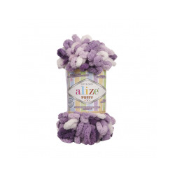 Пряжа Alize Puffy color (100% микрополиэстер) 5х100г/9м цв.5923