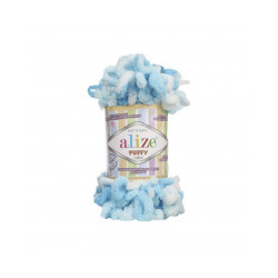 Пряжа Alize Puffy color (100% микрополиэстер) 5х100г/9м цв.5924