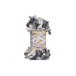 Пряжа Alize Puffy color (100% микрополиэстер) 5х100г/9м цв.5925