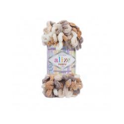 Пряжа Alize Puffy color (100% микрополиэстер) 5х100г/9м цв.5926