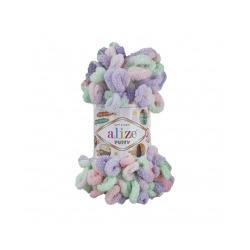Пряжа Alize Puffy color (100% микрополиэстер) 5х100г/9м цв.5938