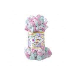 Пряжа Alize Puffy color (100% микрополиэстер) 5х100г/9м цв.6052