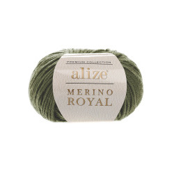 Пряжа Alize Merino Royal (100% шерсть) 10х50г/100м цв.284 хаки