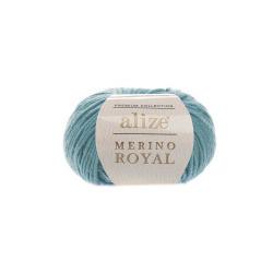 Пряжа Alize Merino Royal (100% шерсть) 10х50г/100м цв.462 лазурный
