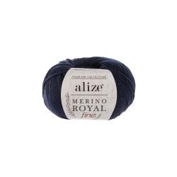 Пряжа Alize Merino Royal Fine (100% шерсть) 10х50г/175м цв.058 т.синий
