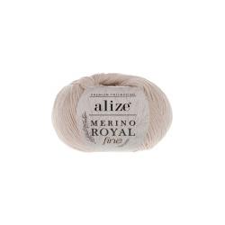 Пряжа Alize Merino Royal Fine (100% шерсть) 10х50г/175м цв.067 слоновая кость