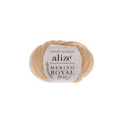 Пряжа Alize Merino Royal Fine (100% шерсть) 10х50г/175м цв.096 бежевый