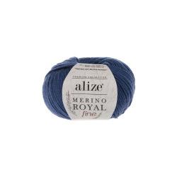 Пряжа Alize Merino Royal Fine (100% шерсть) 10х50г/175м цв.444 джинс