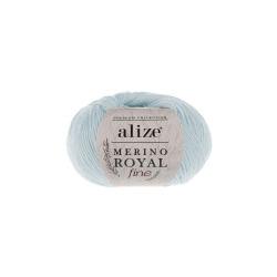 Пряжа Alize Merino Royal Fine (100% шерсть) 10х50г/175м цв.480 св.синий