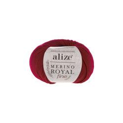 Пряжа Alize Merino Royal Fine (100% шерсть) 10х50г/175м цв.056 красный