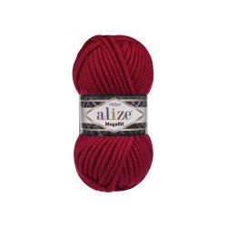 Пряжа Alize Superlana Megafil (25% шерсть, 75% акрил) 5х100г/55м цв.056 красный