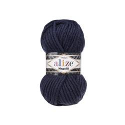 Пряжа Alize Superlana Megafil (25% шерсть, 75% акрил) 5х100г/55м цв.058 т.синий