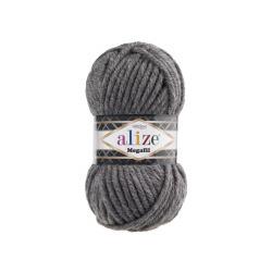 Пряжа Alize Superlana Megafil (25% шерсть, 75% акрил) 5х100г/55м цв.182 средне-серый
