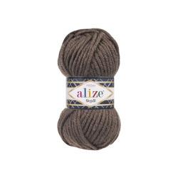 Пряжа Alize Superlana Megafil (25% шерсть, 75% акрил) 5х100г/55м цв.240 коричневый меланж
