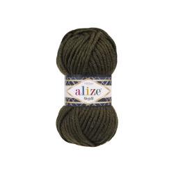 Пряжа Alize Superlana Megafil (25% шерсть, 75% акрил) 5х100г/55м цв.241 т.зеленый