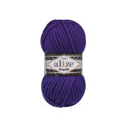 Пряжа Alize Superlana Megafil (25% шерсть, 75% акрил) 5х100г/55м цв.388 пурпурный