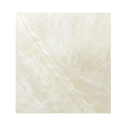 Пряжа Alize Mohair classic (25% мохер, 24% шерсть, 51% акрил) 5х100г/200м цв.001 кремовый