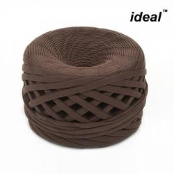 Пряжа Ideal трикотажная 100м, 350-380 г, ширина 7-9мм цв. горький шоколад