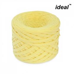 Пряжа Ideal трикотажная 100м, 350-380 г, ширина 7-9мм цв. св.желтый