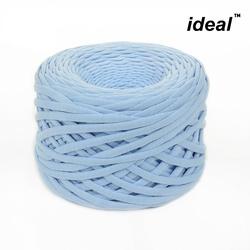 Пряжа Ideal трикотажная лицевая 100м, 350-380 г, ширина 7-9мм цв. св.голубой