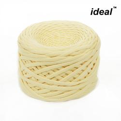 Пряжа Ideal трикотажная лицевая 100м, 350-380 г, ширина 7-9мм цв. св.желтый
