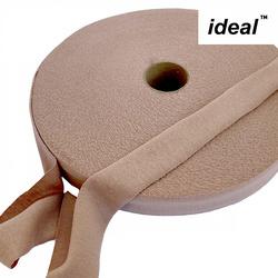 Пряжа Ideal трикотажная лицевая 100м, 350-380 г, ширина 7-9мм цв. нюд