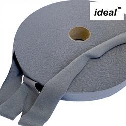 Пряжа Ideal трикотажная лицевая 100м, 350-380 г, ширина 7-9мм цв. олово