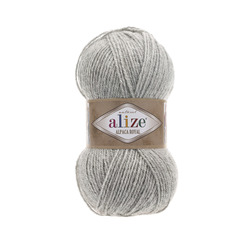 Пряжа Alize Alpaca Royal (30% альпака, 15% шерсть, 55% акрил) 5х100г/280м цв.684 пепельный меланж