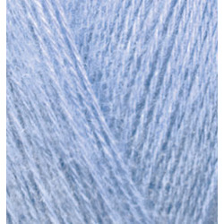 Пряжа Alize Angora Gold (20% шерсть, 80% акрил) 5х100г/550м цв.040 голубой