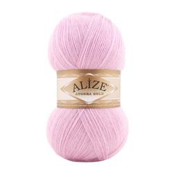 Пряжа Alize Angora Gold (20% шерсть, 80% акрил) 5х100г/550м цв.185 св.розовый