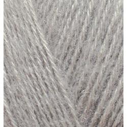 Пряжа Alize Angora Gold (20% шерсть, 80% акрил) 5х100г/550м цв.652 пепельный