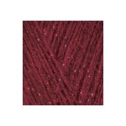 Пряжа Alize Angora Gold Simli (5% металлик, 20% шерсть, 75% акрил) 5х100г/500м цв.057 бордовый