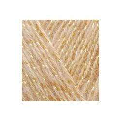 Пряжа Alize Angora Gold Simli (5% металлик, 20% шерсть, 75% акрил) 5х100г/500м цв.095 св.бежевый