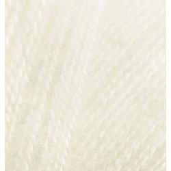 Пряжа Alize Angora Real 40 (40% шерсть, 60% акрил) 5х100г/480м цв.001 кремовый
