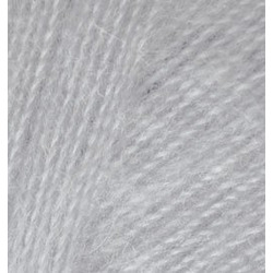 Пряжа Alize Angora Real 40 (40% шерсть, 60% акрил) 5х100г/480м цв.021 серый