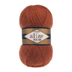 Пряжа Alize Angora Real 40 (40% шерсть, 60% акрил) 5х100г/480м цв.036 терракот