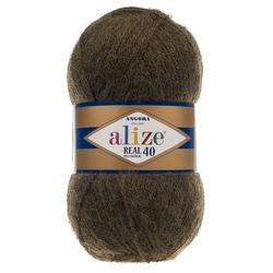 Пряжа Alize Angora Real 40 (40% шерсть, 60% акрил) 5х100г/480м цв.567 зеленый меланж