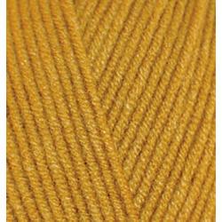Пряжа Alize Cotton gold (55% хлопок, 45% акрил) 5х100г/330м цв.002 горчичный