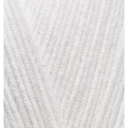 Пряжа Alize Cotton gold (55% хлопок, 45% акрил) 5х100г/330м цв.055 белый