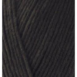 Пряжа Alize Cotton gold (55% хлопок, 45% акрил) 5х100г/330м цв.060 черный