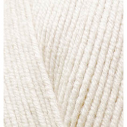 Пряжа Alize Cotton gold (55% хлопок, 45% акрил) 5х100г/330м цв.062 молочно-бежевый